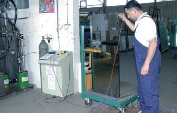 Remplissage de verre thermique avec de l'argon gaz noble