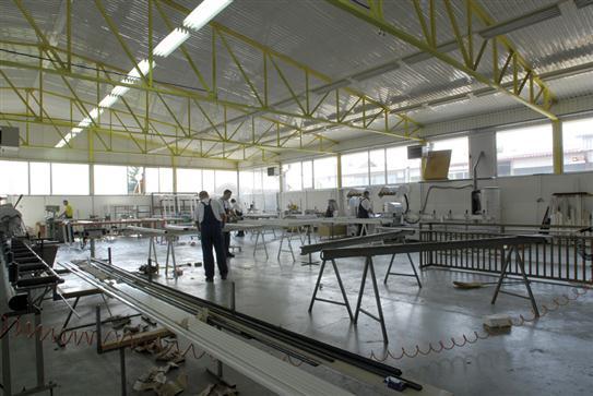 Halle de production de la menuiserie