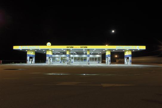 """Tankstelle """"Oktan promet YU"""" auf der Autobahn ZG-BG"""