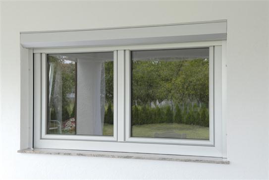 AluSkin двокрилни прозор са  АЛУ кутијом ролетне