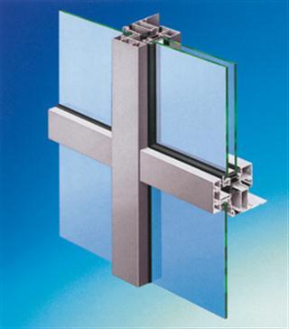 Querdurchschnitt der klassischen Glasfassade