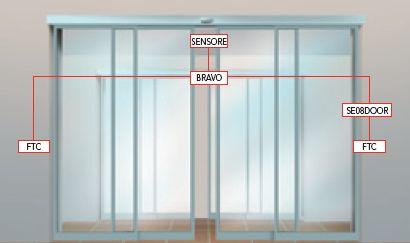 Аутоматика BRAVO за сензорска врата ширине 800-1300мм