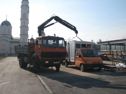 Mises à jour de transport par camion grue
