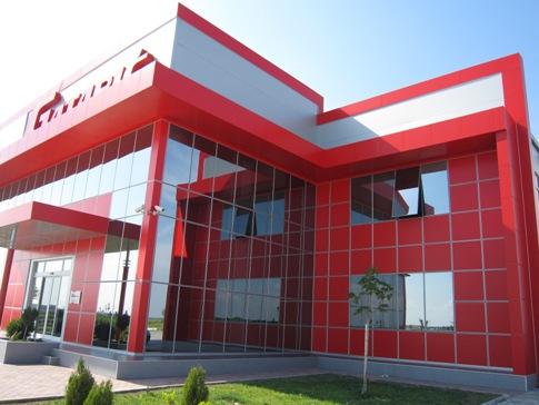Halb-strukturelle Fassade kombiniert mit Alucobond Gatarić
