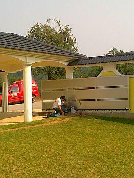 Installation Alucobond porte